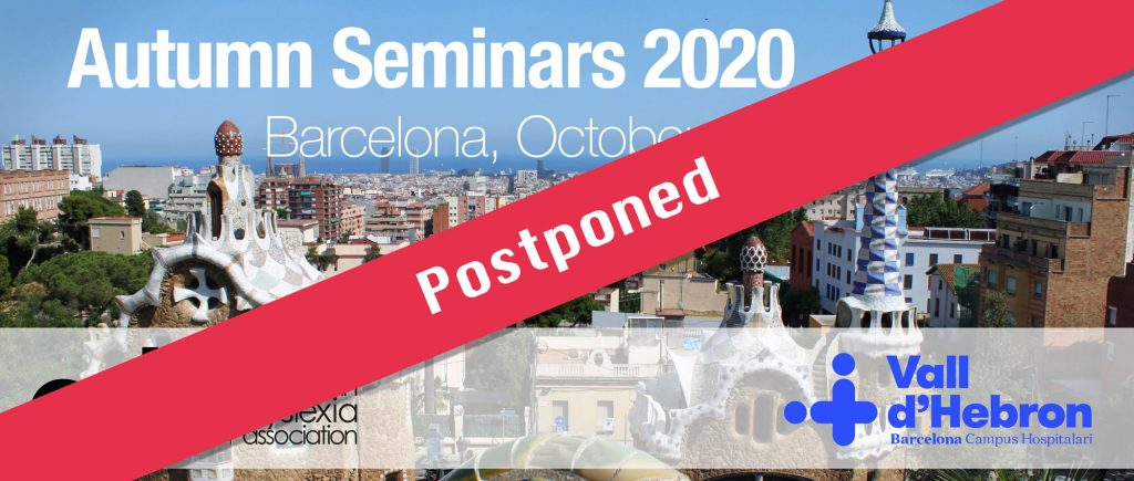 Autumn Seminars 2020 postponed